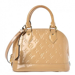 Louis Vuitton Dune Monogram Vernis Alma BB Bag