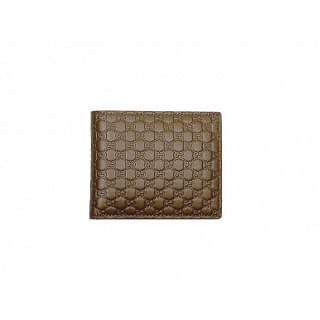 Gucci Brown GG Guccissima Bifold Leather Wallet