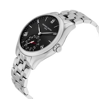 FREDERIQUE CONSTANT Horological Smart Watch Black Dial Stainless Steel Men's Watch