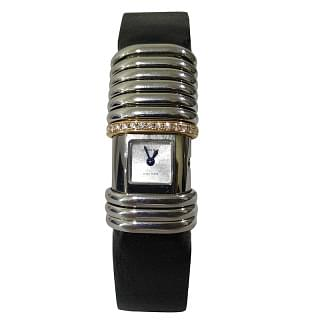 Cartier Titanium and Gold Link Declaration Women's Wristwatch