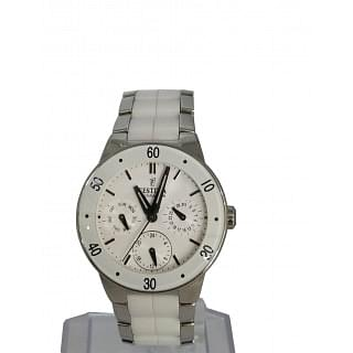 Festina Ladies Multi-Function White Ceramic Watch