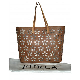 Furla Perforated Leather Tote