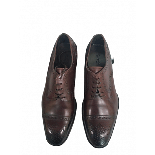 Giorgio Armani Brown Leather Wingtip Dress Shoes