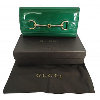 Gucci Horsebit Patent Leather Continental Wallet
