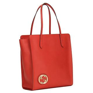 Gucci Interlocking G Pebbled Leather Large Tote