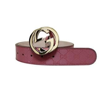 Gucci Pink GG Canvas Interlocking Buckle Imprime Belt