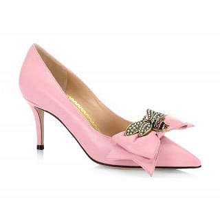 Gucci Queen Margaret Bee Bow Pointy Toe Pump
