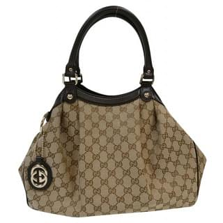 Gucci Sukey GG Monogram Canvas Shoulder Bag