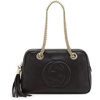 Gucci Soho Leather Double-Chain-Strap Shoulder Bag