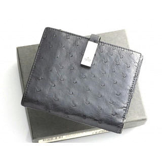 Gucci Black Ostrich Leather Wallet