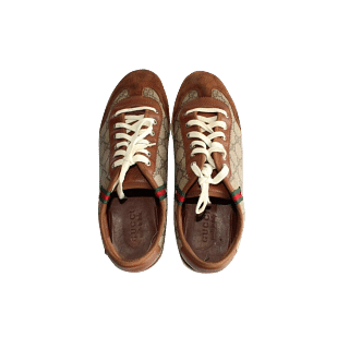 Gucci Brown Lace Up Sneakers
