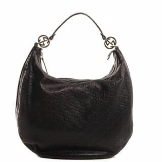 Gucci Brown GG Guccissima Leather Twins Large Hobo Bag