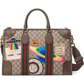 Gucci GG Supreme Brown Courrier Soft Duffle Bag
