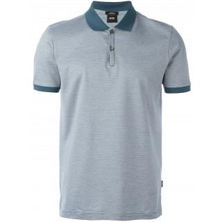 Hugo Boss Teal Contrast Detailing Polo