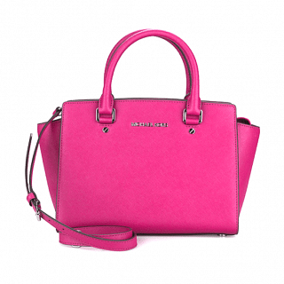 Michael Kors Selma Md TZ Fuschia Satchel