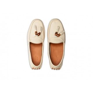 Gucci Cream Hebron Loafers Flats