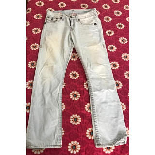 True Religion Ricky Straight Fit Ice Blue Jeans