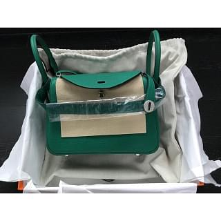 Hermes Lindy 26 Malachite PHW with Nilo Croc Strap