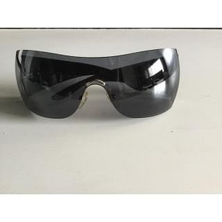 Givenchy Black Sunglasses with Silver Stems