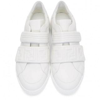 Fendi White Embossed Forever Fendi Sneakers