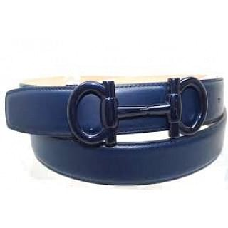 Salvatore Ferragamo Leather Double Gancini Parigi Buckle Belt