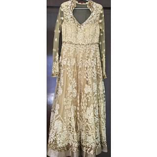Ritu Kumar Gold and Ivory Anarkali