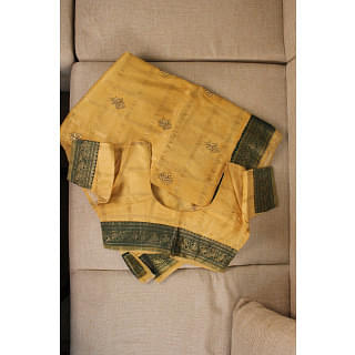 Yellow and Green Traditional Saree
