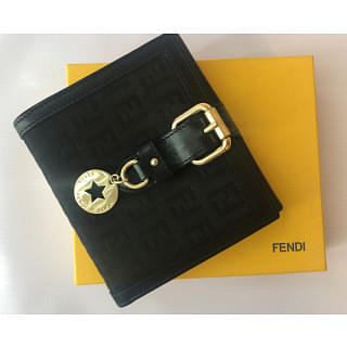 Fendi Logo Wallet with Charm