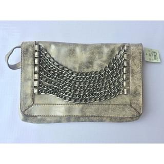 American Eagle Flap Clutch With Chains