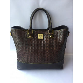 Dooney & Burke Brown Leather Intertwined Tote