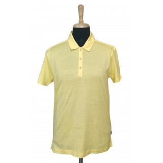 Hugo Boss Linen Cotton Slim Fit Yellow Tshirt