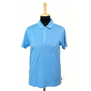 Hugo Boss Linen Cotton Slim Fit Blue Tshirt