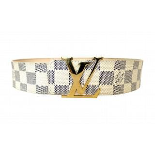 Louis Vuitton Damier Azur Canvas LV Initiales Belt