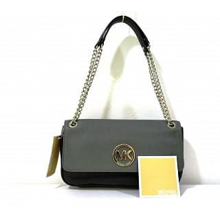 Michael Kors Black-Grey Fullton Shoulder Bag