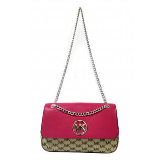 Michael Kors Ultra Pink Shoulder Bag with Chain