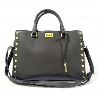 Michael Kors large Sylvie Studded Leather Satchel