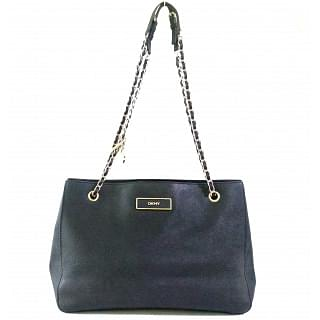 DKNY Black Golden Chain Tote