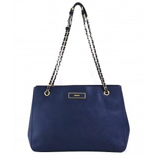 DKNY Navy Golden Chain Tote