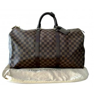 Louis Vuitton Damier Ebene Canvas Keepall 50