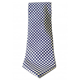 Faconnable Blue White Squared Tie