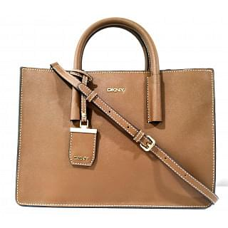 DKNY Bryant Park Tan Saffiano Leather Tote