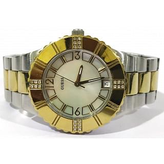 Guess two-tone Silver Gold Hardware Women Watch
