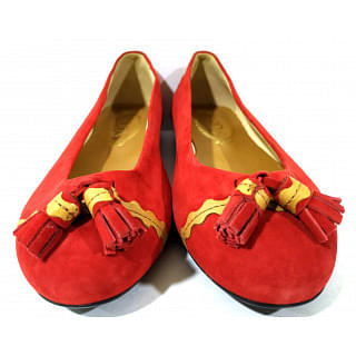 Tods Suede Red Flats
