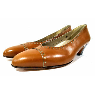 Salvatore Ferragamo Low Heel Brown Pump