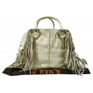 Tods Fringe Leather Tote