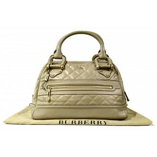 Burberry Quilted Leather Manor Leather Satchel