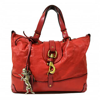 Chloe Kerala Red Grained Leather Tote