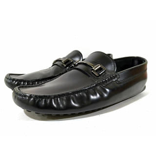 Tods Black Leather Bit Loafer