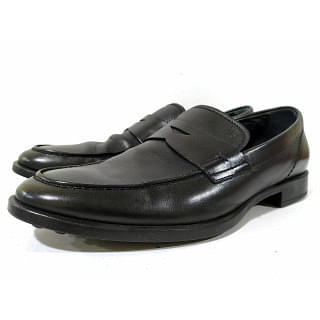 Tods Black Leather Loafer