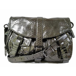 Michael Kors Metallic Large Darrington Python-embossed Messenger Bag